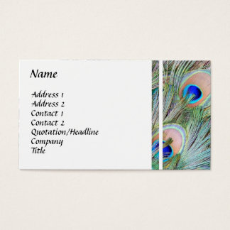 Påfågeln putsar visitkorten visitkort