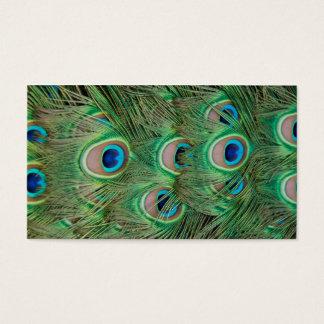 Påfågelplumage Visitkort