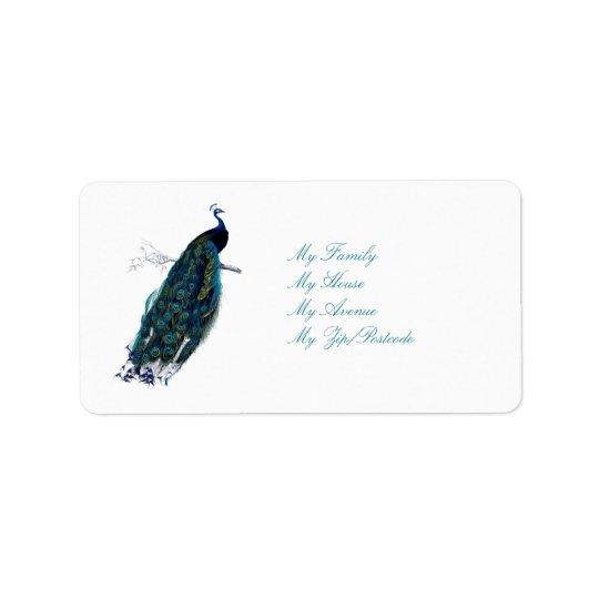 Påfågelsamlingen Adressetikett