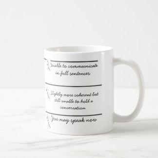 Påfyllningslinjer kan du tala nu den roliga kaffemugg