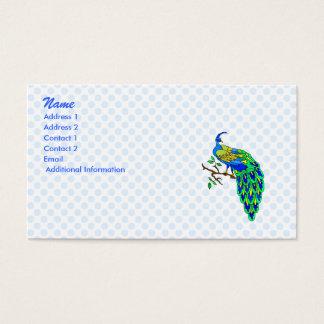 Pagiel påfågel visitkort
