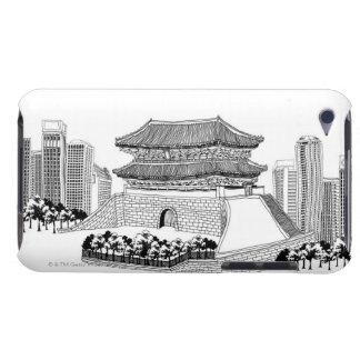 Pagoda och träd iPod touch Case-Mate skydd
