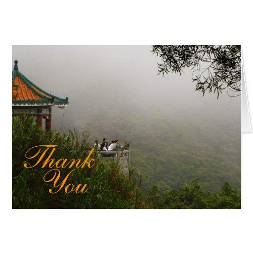 Pagodatack Hälsnings Kort