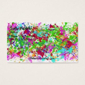 paint-splatters-1 Sally Parker, konstnär, telefon… Visitkort