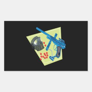 Paintball 3 rektangulärt klistermärke