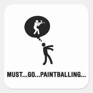 Paintball Fyrkantigt Klistermärke