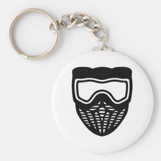 Paintball maskerar rund nyckelring