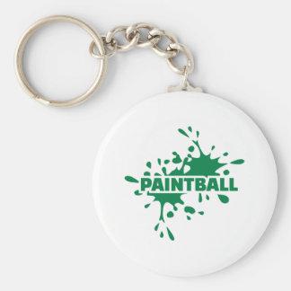 Paintballfärg Rund Nyckelring