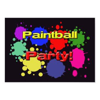 Paintballpartyinbjudningar 12,7 X 17,8 Cm Inbjudningskort
