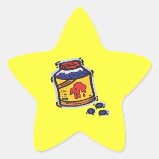 Paintballs Stjärnformat Klistermärke
