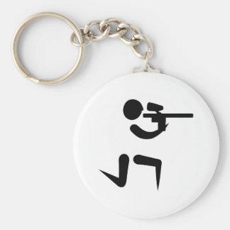 Paintballspelaresymbol Rund Nyckelring