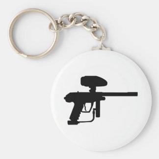 Paintballvapen Rund Nyckelring