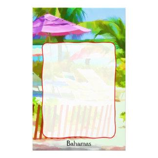 Painterly plats för strand för Bahamas Brevpapper