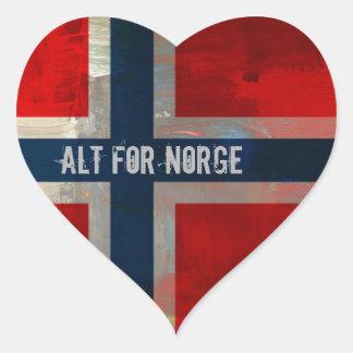 Painterly temagåvor för Grunge Hjärtformat Klistermärke