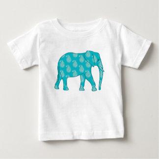 Paisley elefant - turkos och aqua t-shirts
