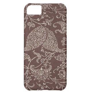 Paisley för vintage brun Fodral-Kompis iPhone 5 iPhone 5C Fodral