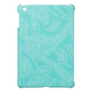 Paisley för vintage för turkosblåtthenna flickakti iPad mini mobil skydd