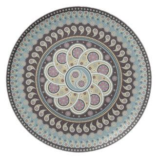 Paisley Mandala Tallrik