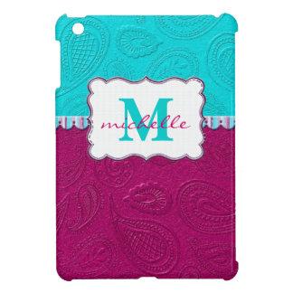 Paisley mönsterMonogram iPad Mini Fodral