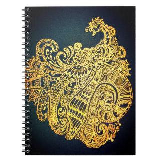 Paisley påfågel anteckningsbok