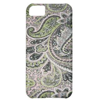 Paisley rosa vis Fodral-Kompis iPhone 5 iPhone 5C Fodral