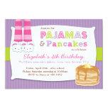 Pajamas och pannkakafödelsedagsfestSleepover 12,7 X 17,8 Cm Inbjudningskort
