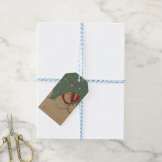 Paketmärkre - snögubbegåvamärkre - personlig pack av presentetiketter