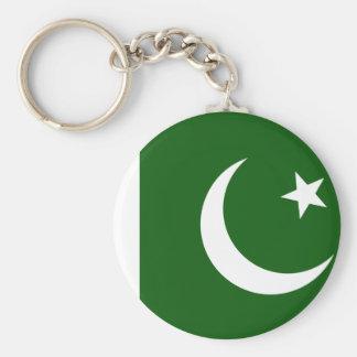 Pakistan flagga rund nyckelring