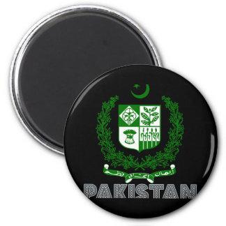 Pakistansk Emblem Magnet Rund 5.7 Cm