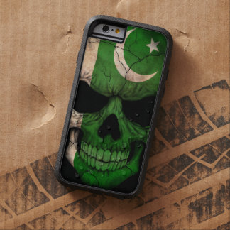 Pakistansk flaggaskalle på svart tough xtreme iPhone 6 fodral