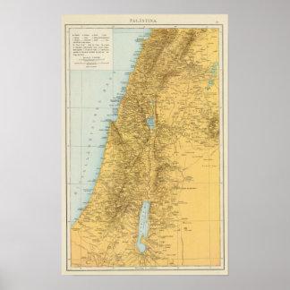 Palastina - Palestina kartbokkarta Poster