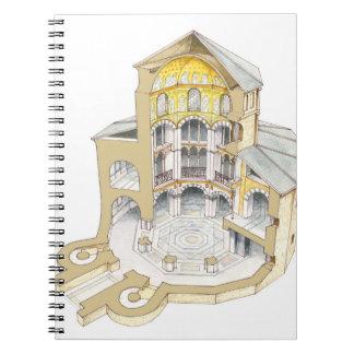 Palatine kapell. Aachen. Tyskland Anteckningsbok