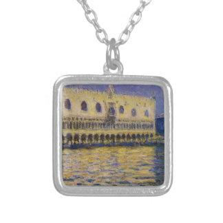 Palazzoen Ducale 2 vid Claude Monet Silverpläterat Halsband