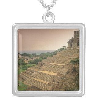 Palenque Chiapas, Mexico, Maya Silverpläterat Halsband