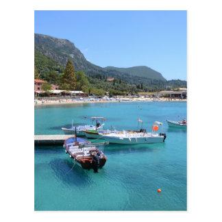 Paleokastritsa strand, Corfu Vykort