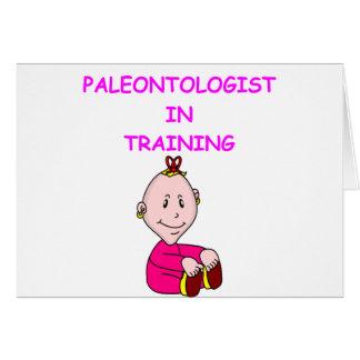 paleontologybebis hälsnings kort