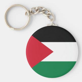 Palestina flagga Keychain Rund Nyckelring