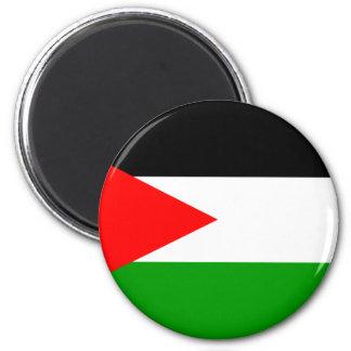 Palestina flagga magnet rund 5.7 cm