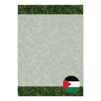 Palestina flagga på gräs 12,7 x 17,8 cm inbjudningskort