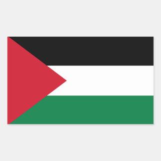 Palestina flaggaklistermärke rektangulärt klistermärke