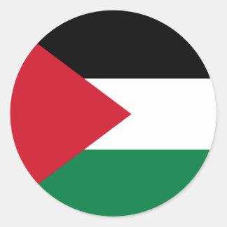 Palestina flaggaklistermärke runt klistermärke