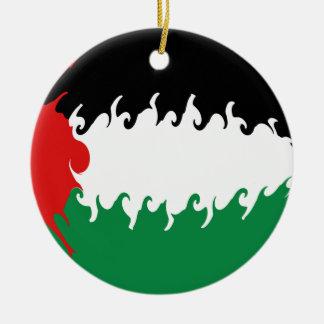 Palestina Gnarly flagga Julgranskula