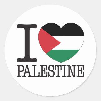 Palestina kärlek v2 runt klistermärke