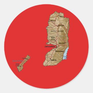 Palestina kartaklistermärke runt klistermärke