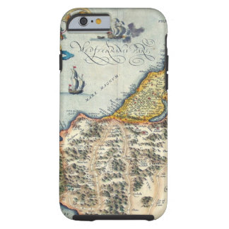 Palestinae 1570 Hondius - vintagekarta Tough iPhone 6 Fodral