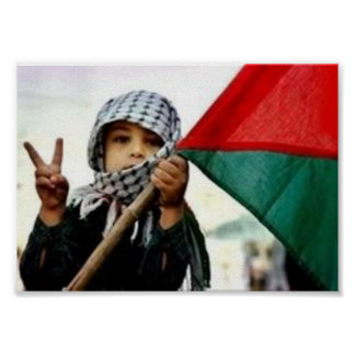 Palestinskt barn för fred poster