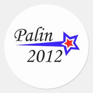 Palin - 2012 runt klistermärke
