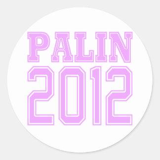 Palin 2012 runt klistermärke