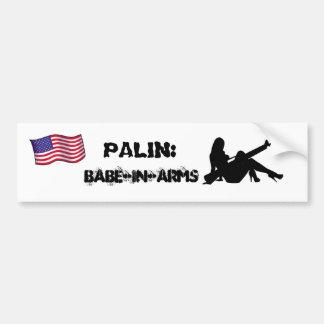 Palin babe-i-ärmar bildekal