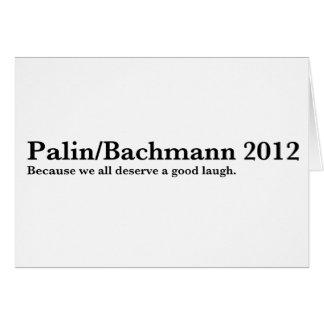 Palin/Bachmann Hälsningskort